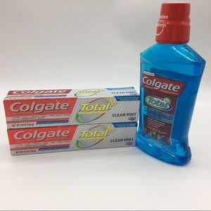 New Colgate mouthwash and toothpaste bundles of 3